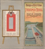 Birďs Eye View of the Panama canal and map of Panama Canal and Map Of Panama