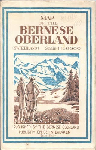 Map of the Bernese Oberland (Switzerland)