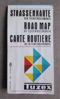 TUZEX - Road map of Czechoslovakia